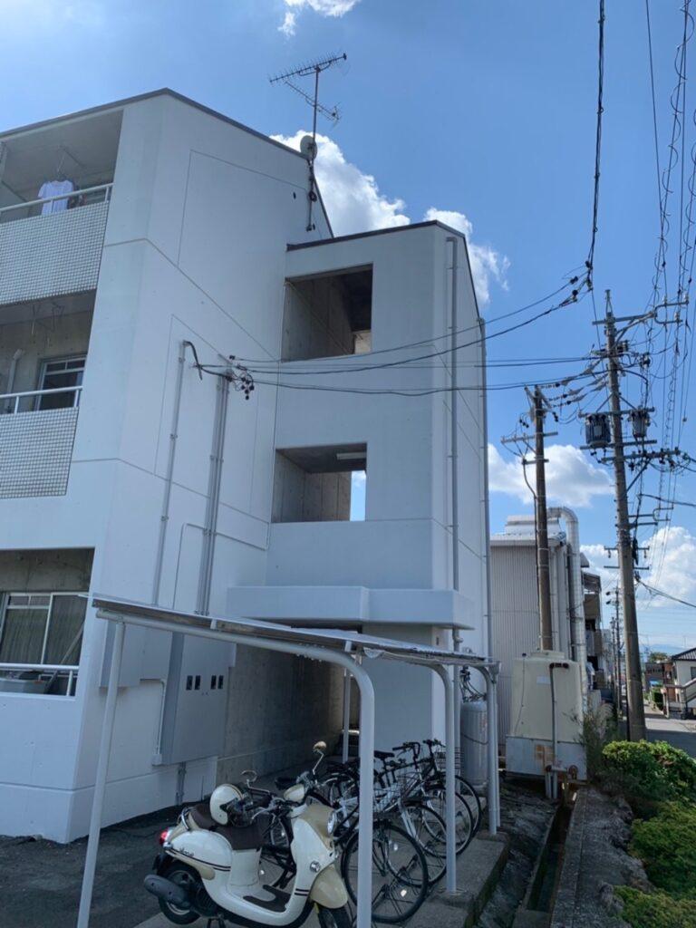 岐阜市 Rアパート 駐輪場の塗装もされました。